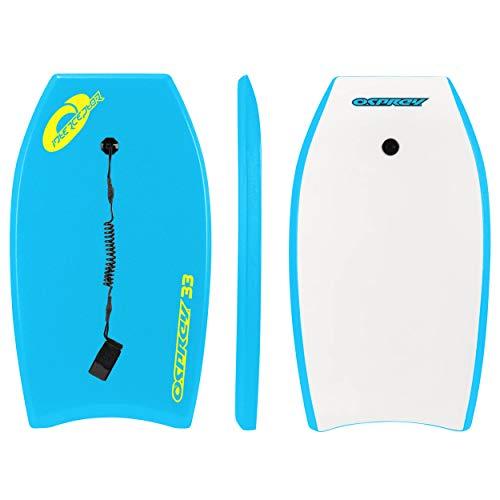 Osprey Interceptor Bodyboard mit Leine, Boogieboard für Kinder und Erwachsene, Unisex, BGG1373-BL, blau, 94 cm (37 Zoll)