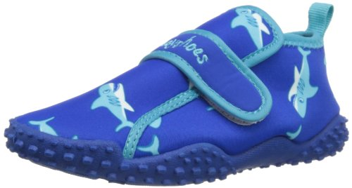 Playshoes Unisex-Kinder Aqua-Schuhe Haie, Blau (original 900), EU 22/23