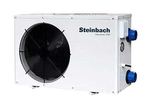 Steinbach Wärmepumpe Waterpower 5000, R32, Heizleistung 5,1 kW, Kühlleistung 3,4 kW, Anschluss 230 V / 0,84 kW, Schallleistung dB(a) 48, Wasseranschluss Ø 50 mm, Titan Wärmetauscher, 049202