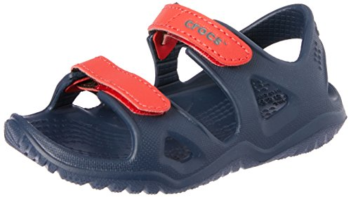 Crocs Unisex-Kinder Swiftwater River Sandalen, Blau (Navy/Flame 4ba), 30/31 EU