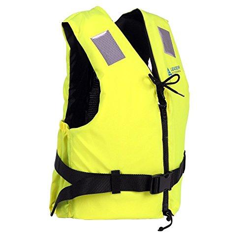 Leader International Schwimmhilfe Erwachsene ISO 12402 CE-Kennzeichnung, Festtoffweste ideal für den Wassersport, Auftriebshilfe bis zu 50N