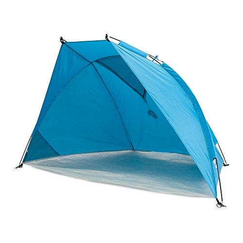 outdoorer Strandmuschel Helios Air - Reise-Strandmuschel mit UV Schutz 80 & verschließbarem Fenster, Strandzelt für Reisen (blau)