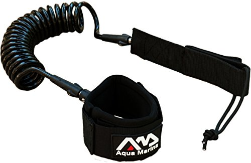 Aqua Marina LEASH, Paddelboard-Leash, SUP-Halteleine, Schwarz
