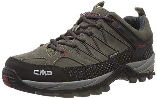 CMP Herren Rigel Low Shoes Wp Trekking-& Wanderhalbschuhe, Beige (Torba-Antracite 02pd), 47 EU