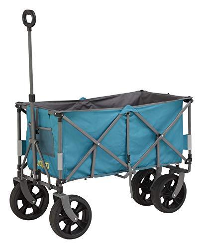 Uquip Faltbarer Bollerwagen Holly XXL – Vollgummi Reifen, Große Ladefläche 100kg