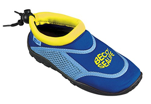 BECO Unisex Kinder Sealife Surfschuhe, Strandschuhe, Wattschuhe Surf und Badeschuhe, Blau, 24/25