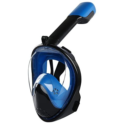 Churidy Tauchmaske Vollgesichtsmaske mit 180 Grad Blickfeld und Kamerahaltung, Anti-Fog Anti-Leck, Schnorchelmaske Tauchermaske Vollgesichtsmaske, für Kinder und Erwachsene