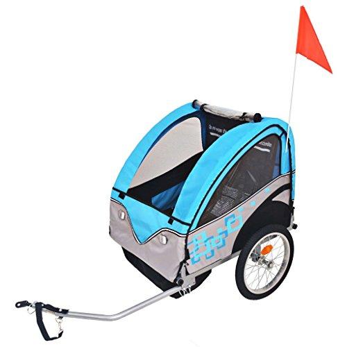 vidaXL Kinderanhänger Kinderfahrradanhänger Fahrradanhänger Jogger Anhänger