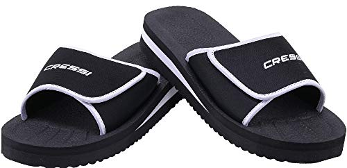 Cressi Unisex– Erwachsene Shoes Panarea Slipper für Strand und Schwimmbad, Schwarz, 35 EU