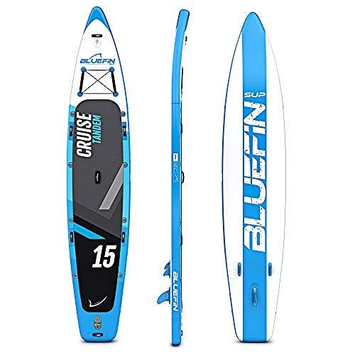 Bluefin Cruise SUP Board Set | Aufblasbares Stand Up Paddle Board | 6 Zoll Dick | Fiberglas Paddel | Kajak Sitz | Komplettes Zubehör