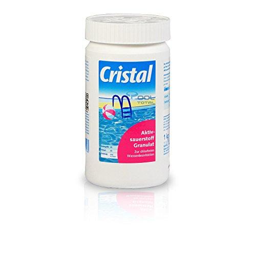 Bayrol Cristal Aktivsauerstoff Granulat 1,0 kg - Sauerstoff Granulat zur chlorfreien Wasserdesinfektion