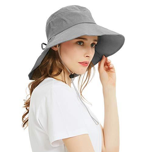 EINSKEY Sonnenhut Damen Faltbar UV Schutz Fischerhut Gartenhut Breite Krempe Safari Bucket Hat
