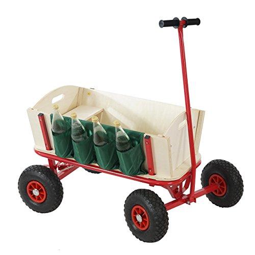 Mendler Bollerwagen Handwagen Leiterwagen Oliveira inkl. Sitz, Bremse, Flaschenhalter