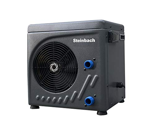 Steinbach Wärmepumpe Mini, für Pools bis 20.000 l Wasserinhalt, Heizleistung 3,9 kW, 220V Betriebsspannung, Wasseranschluss Ø 32/38 mm, 049273