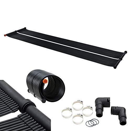 Arebos Solarheizung Solarkollektor Poolheizung | 300x66 cm | UV-beständiger Kunststoff | Schwarz | Beliebig erweiterbar