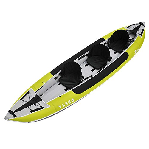 Z-Pro Tango 3 Inflatable Kayak Green - 2 or 3 Person Kayak