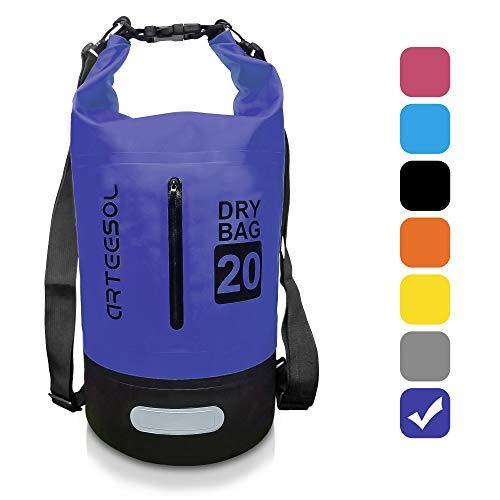 ARTEESOL Dry Bag - 5L/10L /20L /30L Seesack Wasserdichte Packsack/Trockentasche, Verstellbarer Schultergurt Inklusive, Geeignet für Kajak-, Boot-, Kanufahren/Angeln/ Rafting/Schwimmen/ Camping/Snowboarden