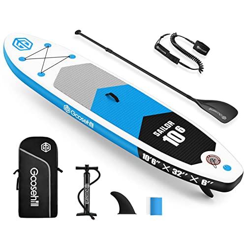 Goosehill Aufblasbares Stand Up Paddling Board, Premium SUP Board Set, Größe 10 'x 32' x 6', Muster Kann Benutzerdefiniert Werden… (Sailor Blau)