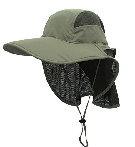 GG ST Sonnenhut Herren Damen UPF 50+ Outdoor UV Summer Cap mit Nackenschutz Hiking Fischerhut Strand Faltbar Safari Buschhüte Mesh Hat