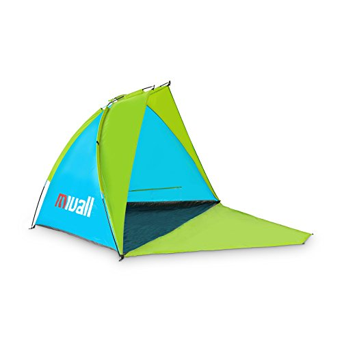 Mivall Strandmuschel Verschließbar mit UV Schutz und Sonnenschutz 240x120x120cm Strandzelt als Sichtschutz
