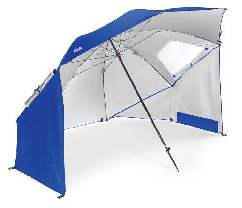 Sport-Brella Umbrella Sonnenschirm für Strand und Garten, Robust, Schutz vor Sonne, Regen und Wind, Mit Tragetasche, Blau, 54'' / 136cm