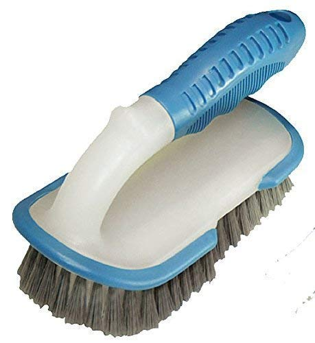 well2wellness stabile Pool Reinigungsbürste Handbürste Profi mit Griff und verstärkten Borsten