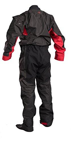 GUL Dartmouth ECLIP Zip Drysuit Dry in Schwarz und Rot - Wärme verschweißte Nähte - 3 Schicht - Dry