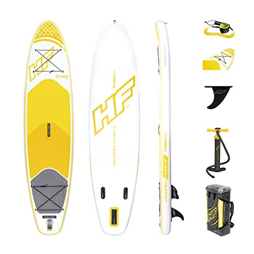 Bestway Hydro-Force SUP Cruiser Tech, stabiles und leichtes Stand-up-Paddling Board aufblasbar, 320x76x15 cm