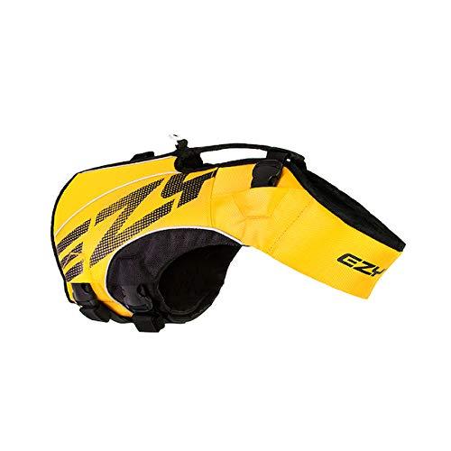 EzyDog X2 Boost Schwimmweste für Hunde, Größe XL, Gelb