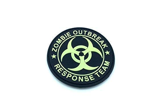 Zombie Outbreak Response Team Glow in the Dark Softair Paintball Moral PVC Patch