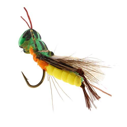 perfk 1 Stück Angelköder Heuschrecken Form und Helle Farbe für Verschiedene Arten von Fischen 2.8cm