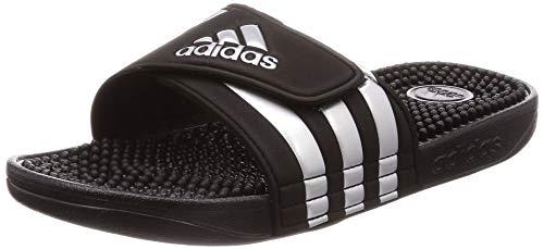 adidas Unisex-Erwachsene Adissage Hausschuh, Schwarz (Core Black/Silver Metallic/Core Black 0), 48.5 EU