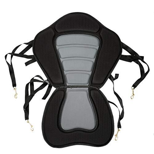 PQZATX Kajak Gepolsterter Sitz Ruderboot Weiche, rutschfeste, Gepolsterte Basis, Einstellbare Rückenlehne Mit Boot Kissen