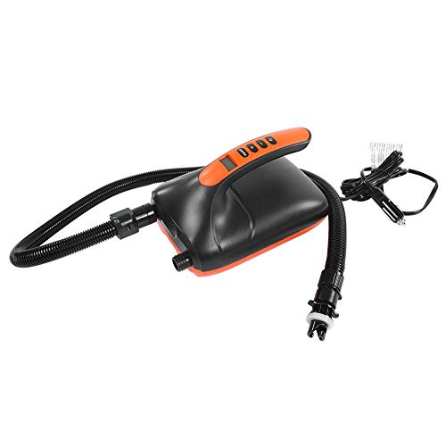 VGEBY1 Elektrische Luftpumpe, 12V Hochdruck Digital SUP & Paddle Board Kajak Inflatorpumpe