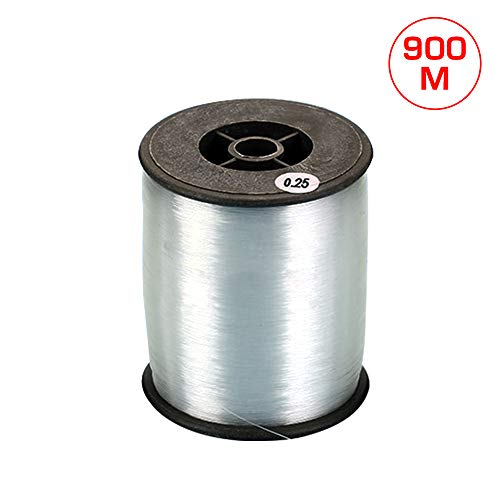 KnR Harmony Clear Nylon Invisible Thread Fishing Line 900m for Hanging Ornaments Pearl Jewelry Bracelets Crafts 2.5mm