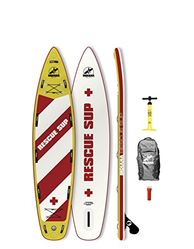 Indiana 11'6 Rescue Inflatable SUP Board (incl. Backpack with Wheels, Pump, Fin & Rep. Kit)