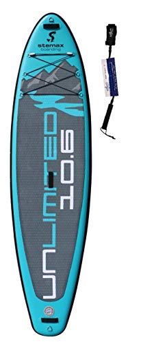 SUPwave Stemax Allround 10'6 Unlimited SUP Standup Paddel Board aufblasbar inkl Coil-Leash, Stand up Paddle