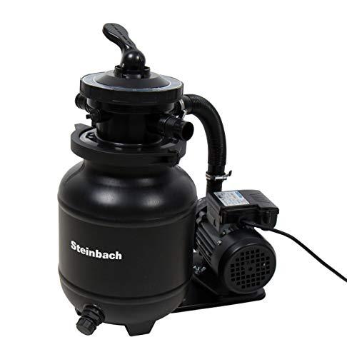 Steinbach Filteranlage Active Balls+, Umwälzleistung 3,8 m³/h, 230 V/200 W, 7-Wege-Ventil, Anschluss Ø 32/38 mm, inkl. 320 g Filter Balls, 040386