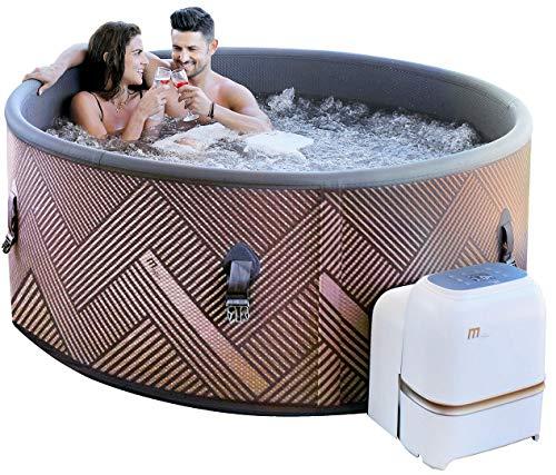 Miweba MSpa aufblasbarer Whirlpool Concept Mono C-MO069 Outdoor – Ultradünn – für 6 Personen - 138 Düsen - 173 x 65 cm - Tüv GS geprüft - 930 Liter - Pool aufblasbar (Concept Mono)