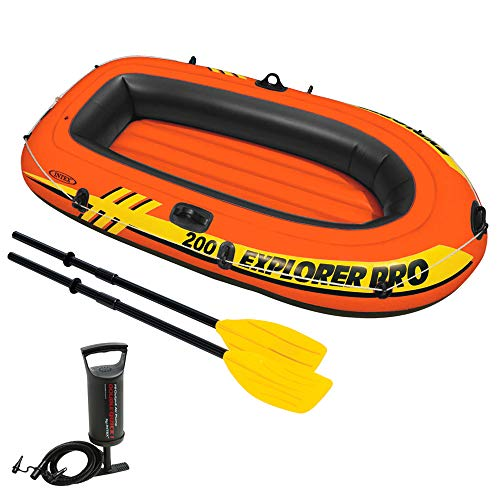 Intex Explorer Pro 200 Set Schlauchboot - 196 X 102 X 33 cm - 3-teilig - Orange
