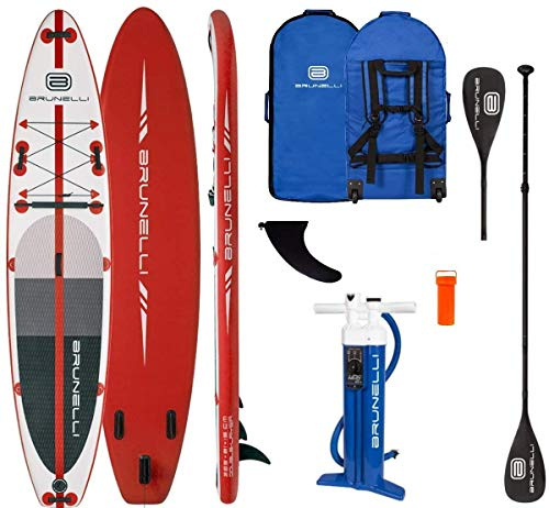 Brunelli 12.0 Monster Premium SUP Board Stand Up Paddle Surf-Board aufblasbar Paddel ISUP red 365cm