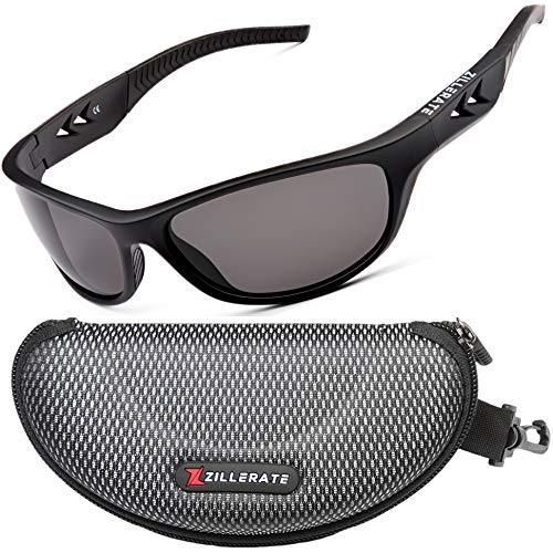 Sonnenbrille Herren Polarisierte Sunglasses Men - Sportbrille für Damen zum Fahren Radfahren Golf Fischen Laufen Segeln Skifahren, UV400-Schutz, Leichter, langlebiger TR90-Rahmen, Hartschalen-Etui