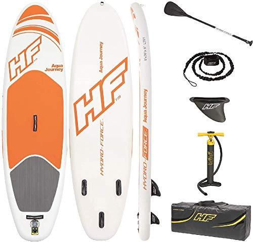 Bestway Hydro-Force SUP Fastblast Tech stabiles und leichtes Stand-up-Paddling Board aufblasbar, 381x76x15 cm