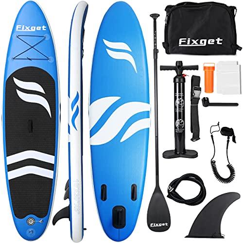 Fixget SUP Board, Stand Up Paddle Board Aufblasbar Stand-Up Paddling Board Set 300x76x15cm 150kg Last (B1)