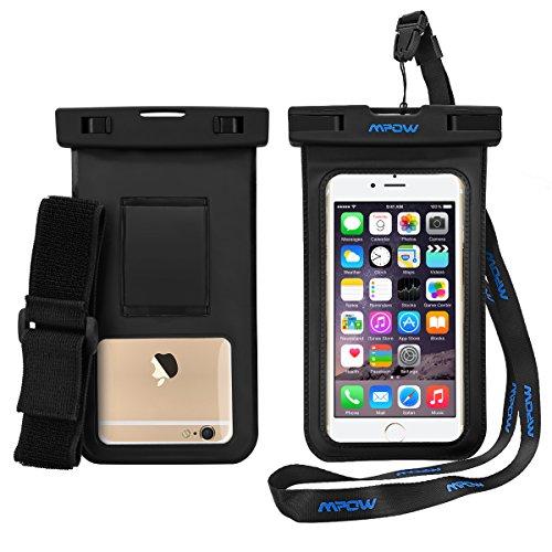Wasserdichte Handyhülle, Mpow wasserdichter Handyhülle mit Armband für iPhone 7 plus, iPhone7, 6 plus, 6s, 5s, S7, S6; Umweltfreundliche PVC & ABS Konstruktion Beutel & IPX8 zertifiziert.