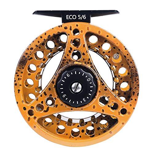 MAXIMUMCATCH ECO Serie Fliegenrolle großer Spulenkern mit Druckguss-Aluminum-Körper Fliegenfischen Rolle in 3/4wt 5/6wt 7/8wt, Silver/Schwarze/Regenbogen, mit Schnüre Combo