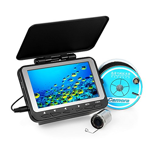 Lixada Fischfinder Unterwasser Eisfischen Kamera 4,3'LCD Monitor 8 Infrarot IR LED Nachtsicht Kamera 140 ° Weitwinkel 15M / 30M 1000TVL