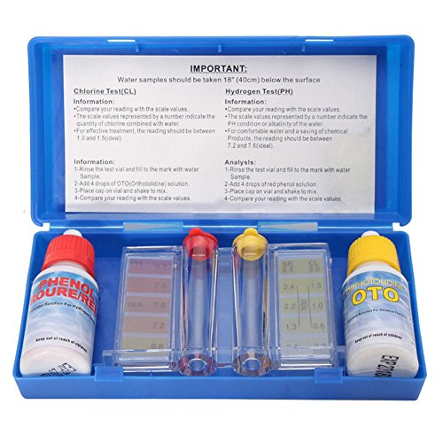 Crazywind Pool-Wassertest-Set, 1 Set PH Chlor Wasser Qualität Test Kit Hydrotool Test-Kit Zubehör für Schwimmbad