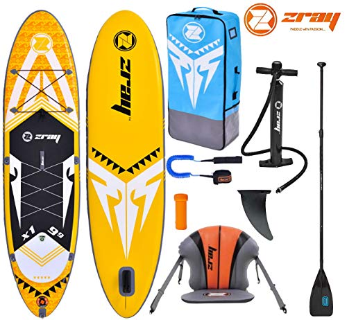 Zray X-Rider X1 9.9 SUP Board Stand Up Paddle Surf-Board Kajak-Sitz Paddel Leash