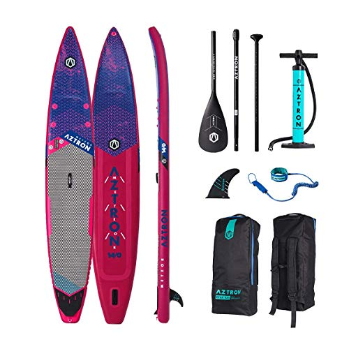Aztron Meteor 14' All Around Inflatable Sup Stand up Paddle Performance + Alu Paddle, Bag, Pump, Leash, Sup